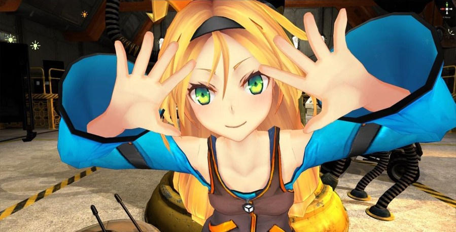 Unity Game Engine Obtains Anime Mascot Named Unity chan   The Escapist Designed by ntny  Unity chan appears to be more wild than demure  Various  screenshots show her in high energy poses  from happy smiles to a kick