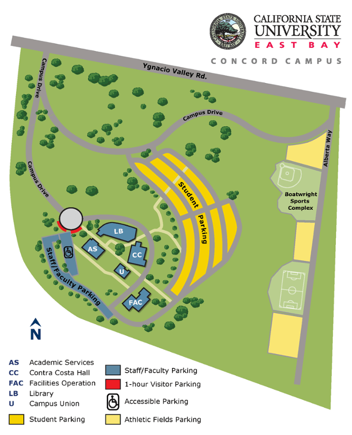 Csueb Concord Campus Map.Cal State East Bay Concord Campus Map