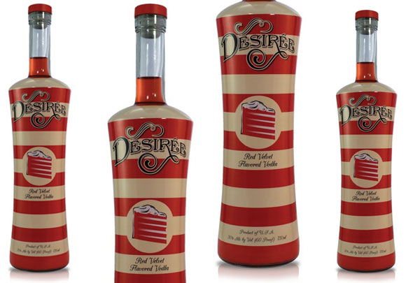 Velvet Vodka Desiree Red