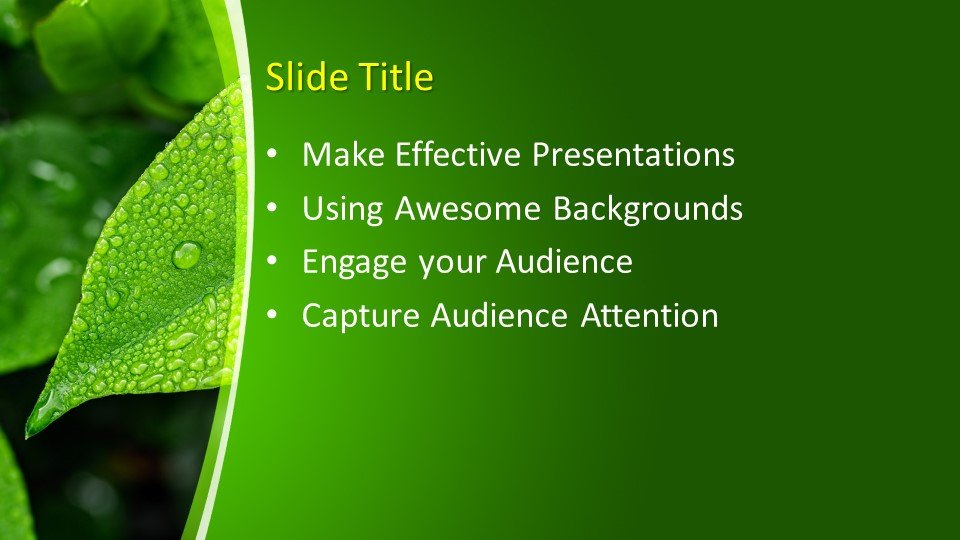 Free Leaf Powerpoint Template Free Powerpoint Templates