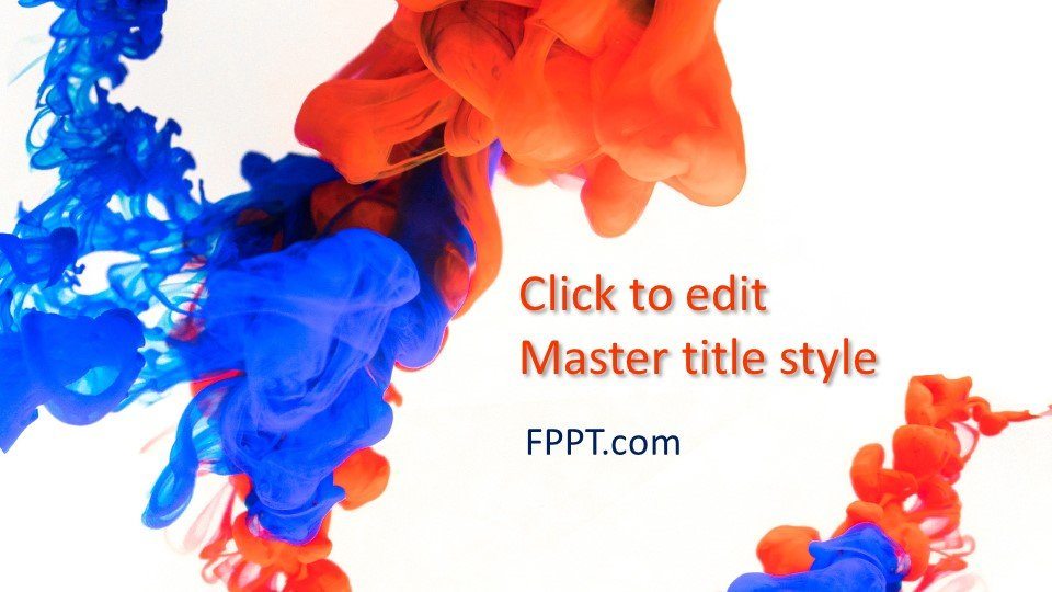 Free Color Splash Powerpoint Template Free Powerpoint