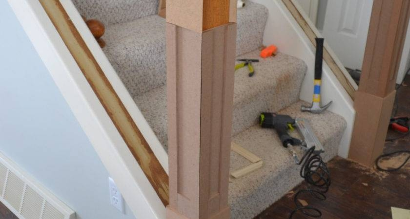 Staircase Situation Craftsman Style Newel Post Gabe Jenny Homes | Craftsman Style Newel Post | Design | Staircase | Railing | Square | Interior