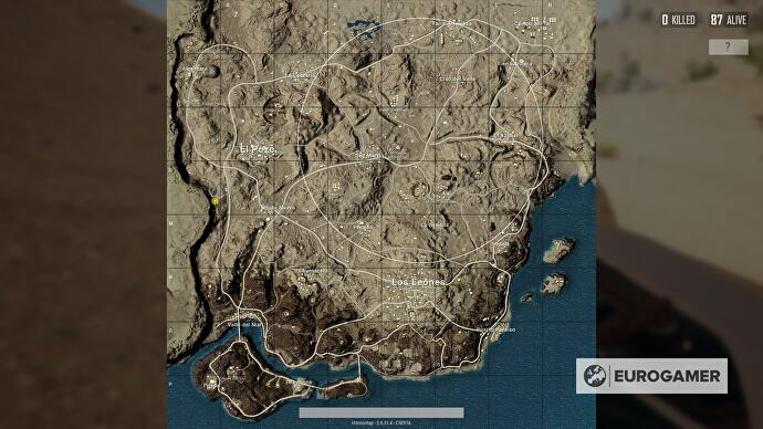 PUBG desert map Miramar   Xbox release features  best start     PUBG s desert map Miramar  desert 1