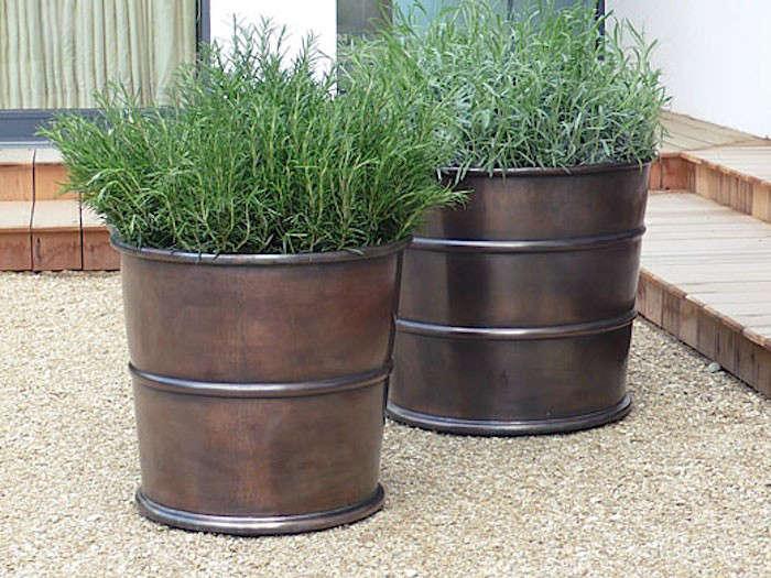 Tall Zinc Planters