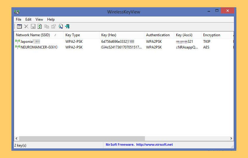 Wireless Security Key Windows 10