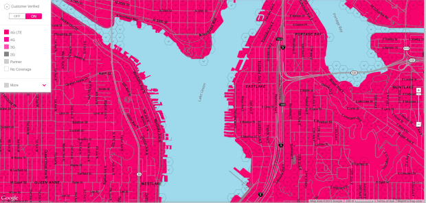T Mobile launches live coverage map to show off its network s live     Screen Shot 2015 03 30 at 8 58 42 AM T Mobile unveiled a new coverage map