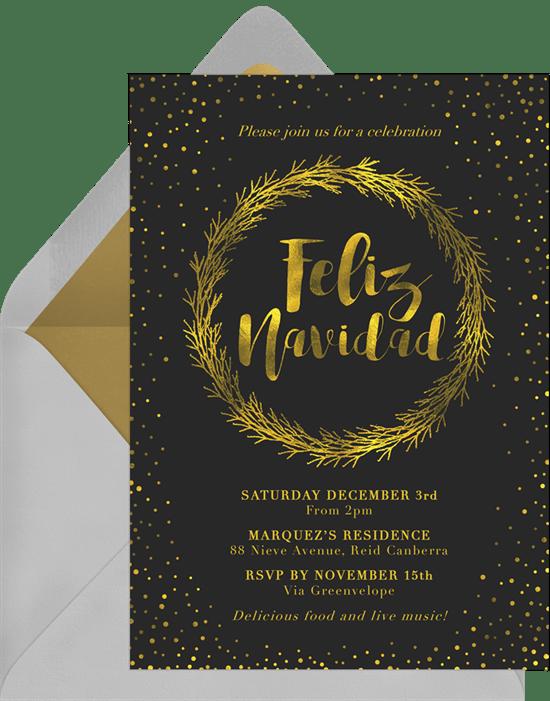 Feliz Navidad Party Invitations