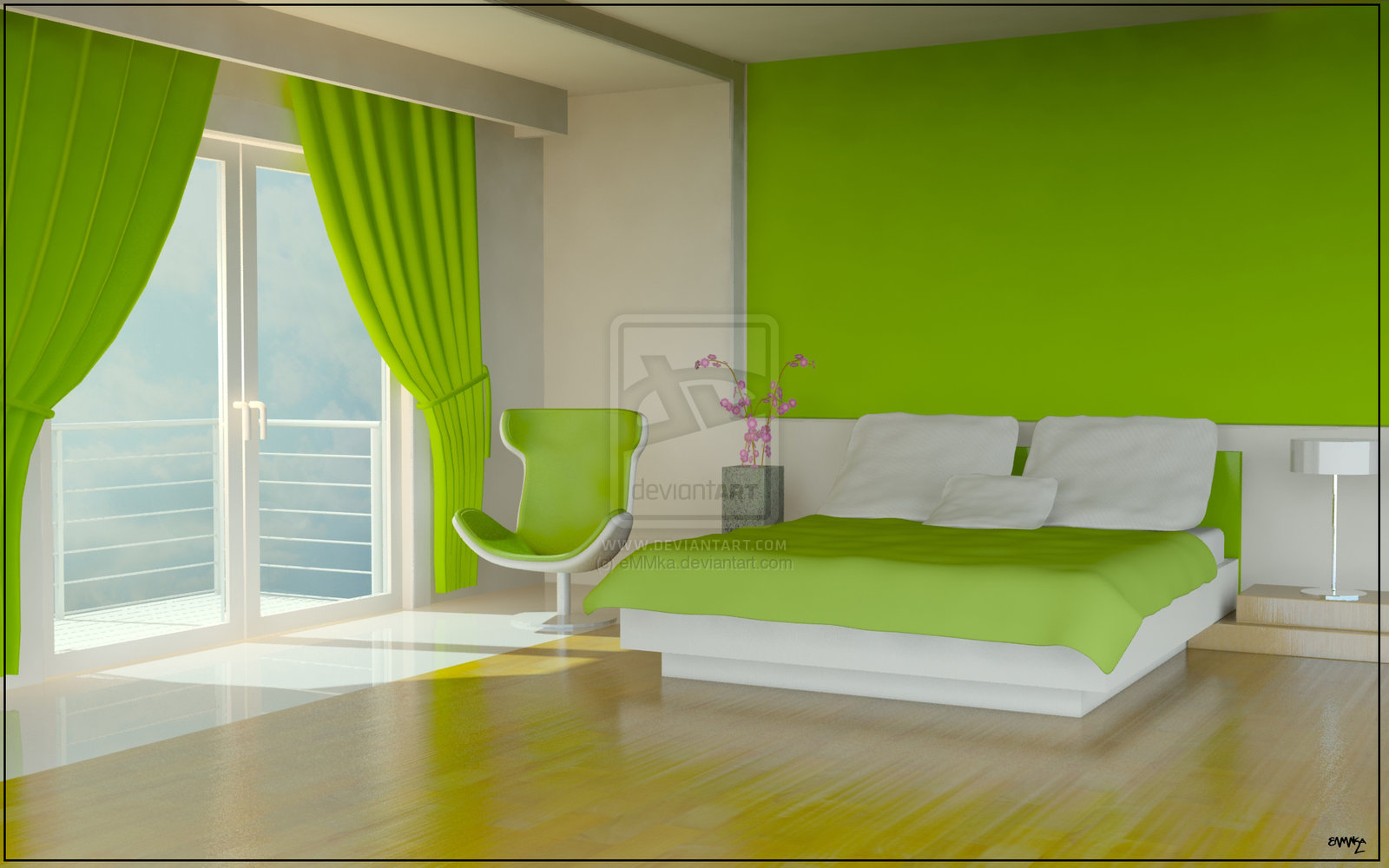 Lime Green Bedroom
