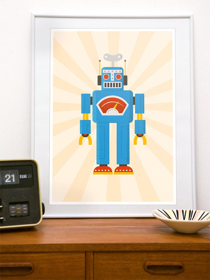Robot Poster Prints Interior Design Ideas