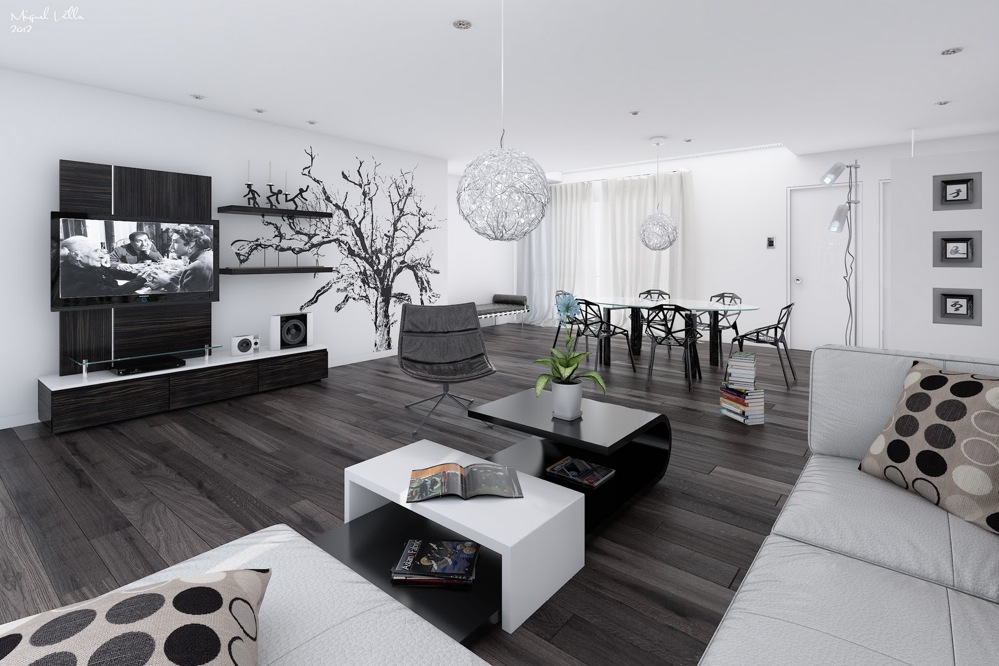 Black And White Room Decor
