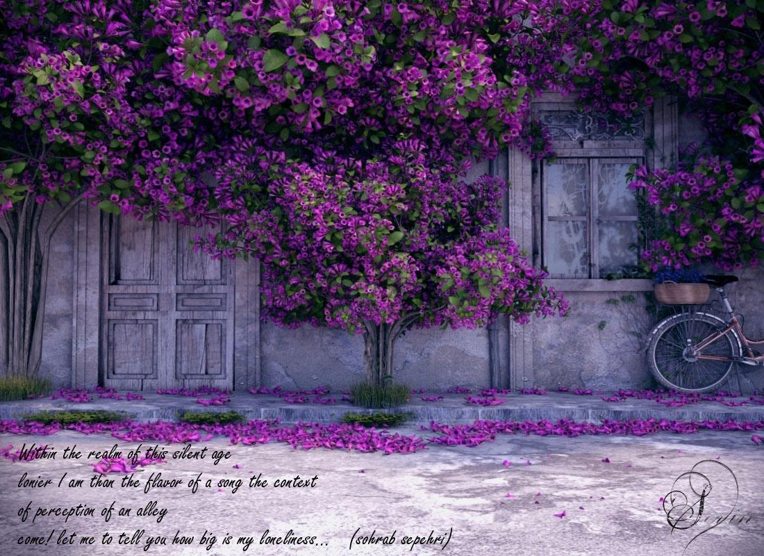 Purple Blossom Interior Design Ideas
