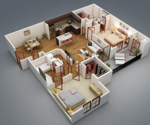 1 Bedroom Apartment House Plans     2 Bedroom Apartment House Plans