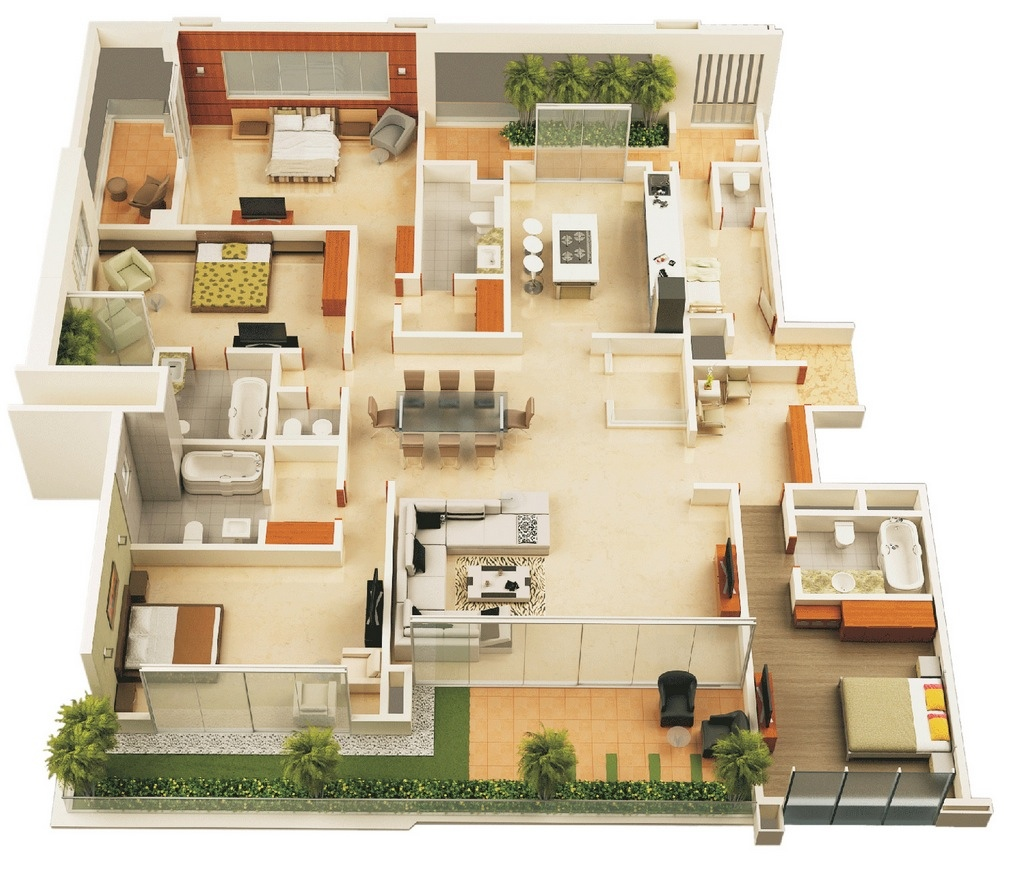 Best Kitchen Gallery: 4 Bedroom House Designs 4 Bedroom House Designs B Weup Co of 4 Bedroom House Designs  on rachelxblog.com