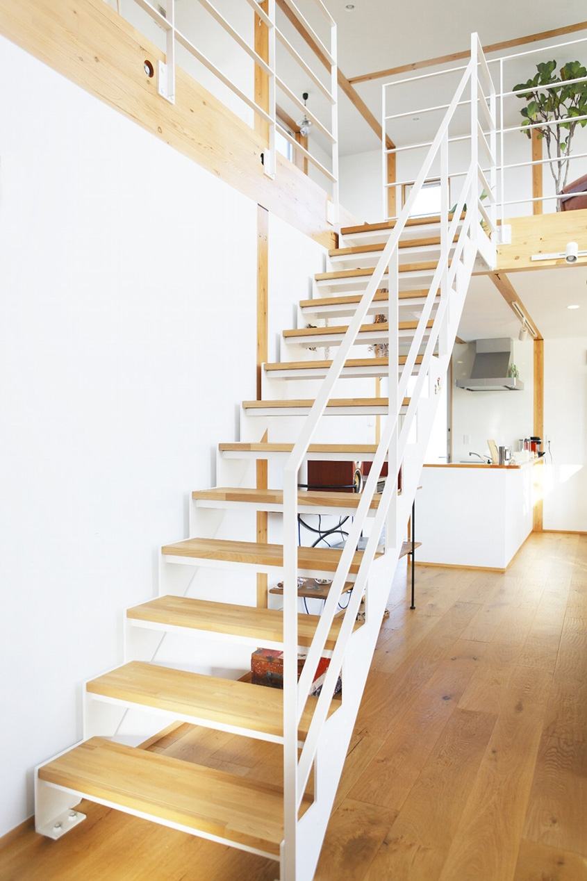 Style Simplicity In A Japanese Countryside Prefab Home   Simple Stairs Design For Small House