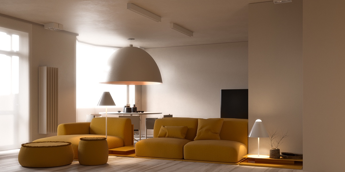 Two Similar Interiors For Couples With And Without Kids