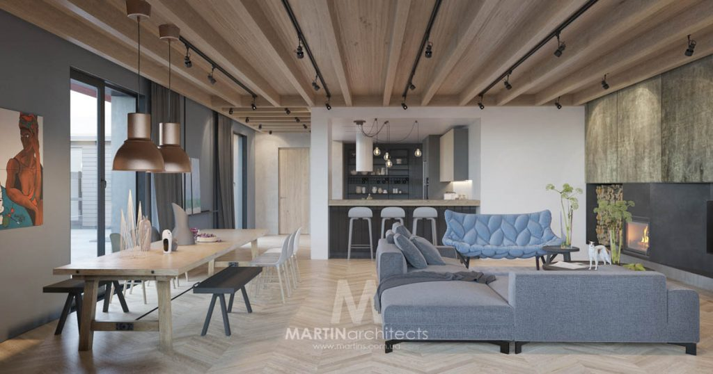 Cool Apartment With Contemporary Calming Color Scheme