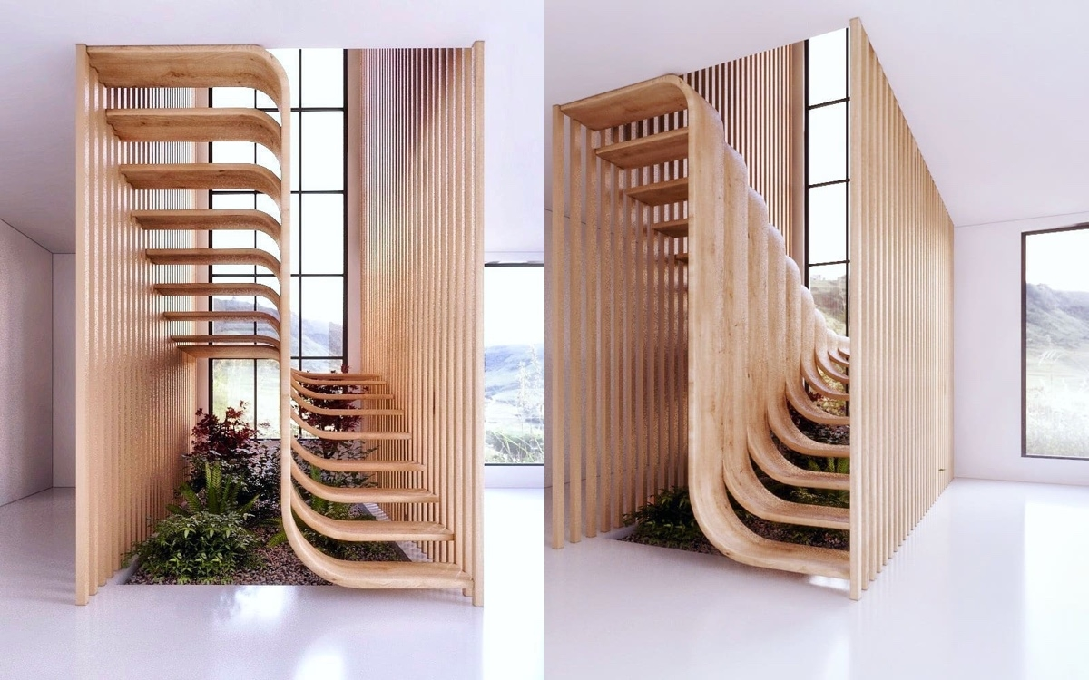 51 Stunning Staircase Design Ideas | Simple Staircase Designs For Homes | Kitchen | Interior | Tiny | Simple 2Nd Floor House | Space Saving