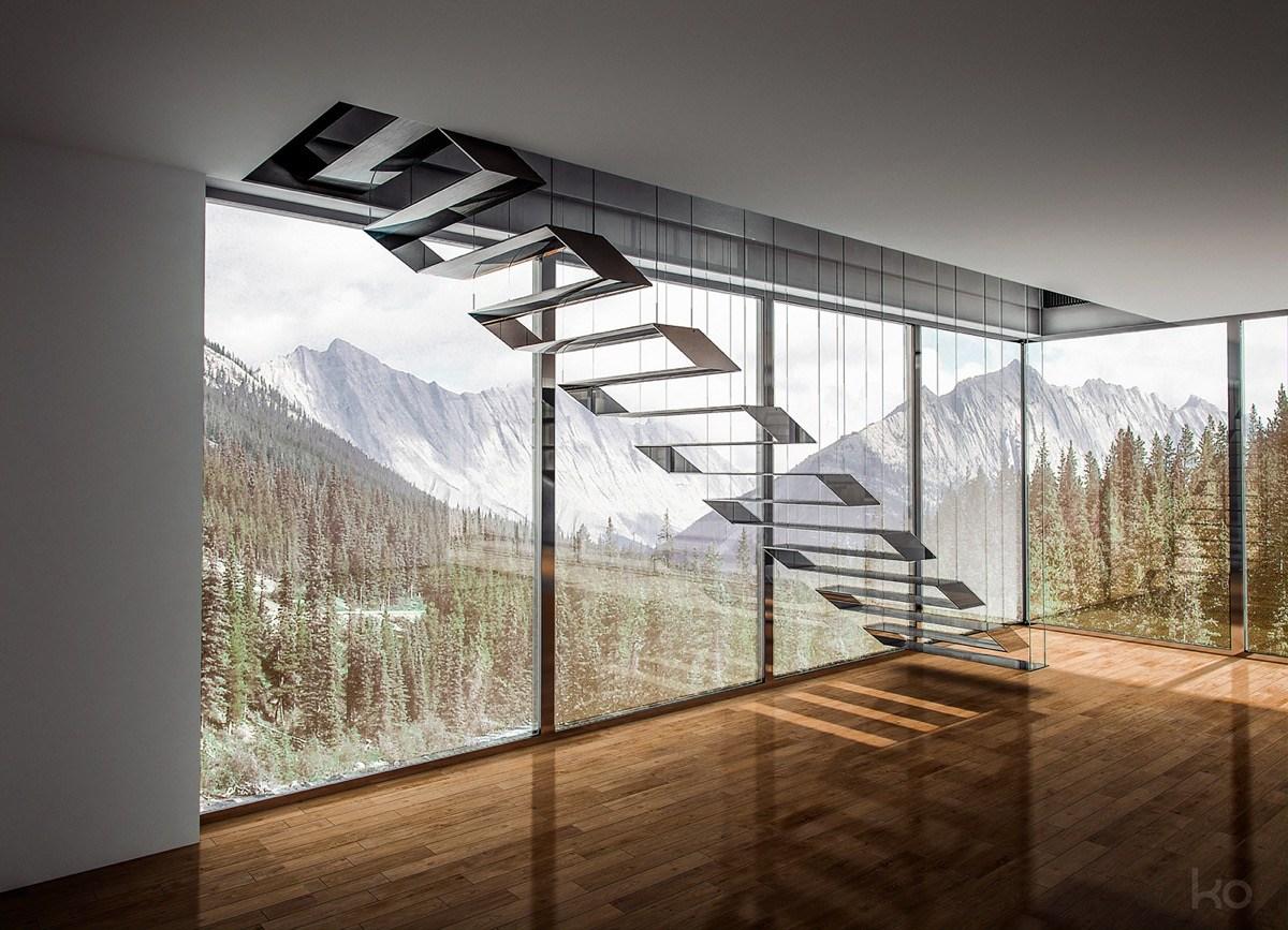 51 Stunning Staircase Design Ideas | Floating Concrete Steps Designs | Exterior | Landscape | House | Sidewalk | Cement