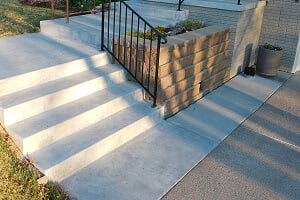 2020 Precast Concrete Steps Cost Price To Replace Cement Stairs | Ready Made Outdoor Steps | Inexpensive | Single | Grey Composite Decking | Wooden | Support