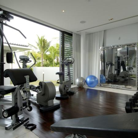 Home Gym Flooring Ideas   HomeAdvisor Transitional Home Gym by DesignMine Private Gallery