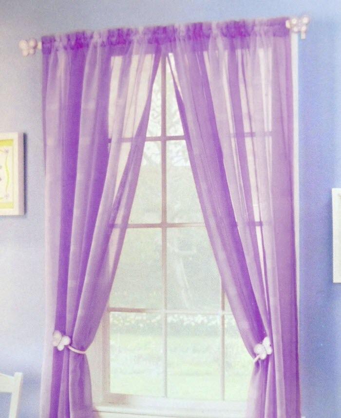 Purple Kitchen Curtains