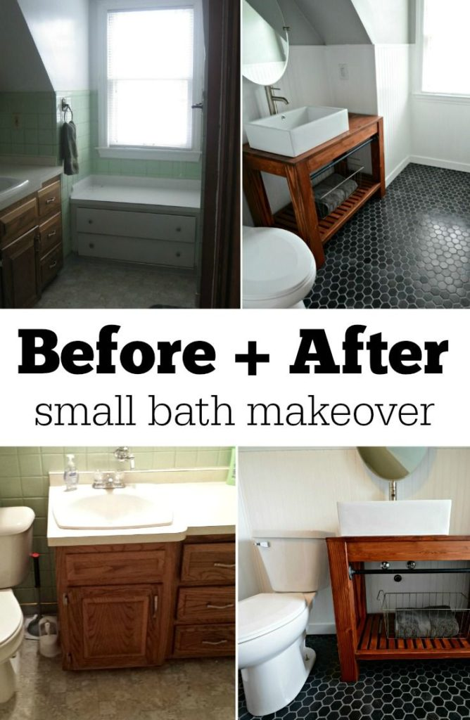 Bathroom Makeover Before And After Picture Home