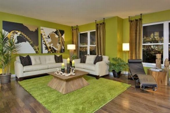 How to Decorate with Green  White and Black  View in gallery