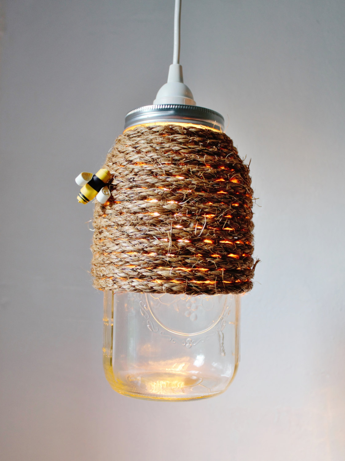 Making Pendant Lights Out Mason Jars
