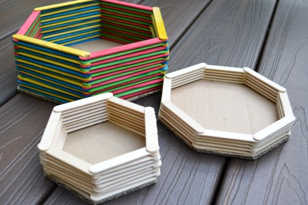 Are Not Just For Kids Popsicle Sticks Craft Ideas Best Cool Stick Hexagon Shelf Easy DIY Wall Art