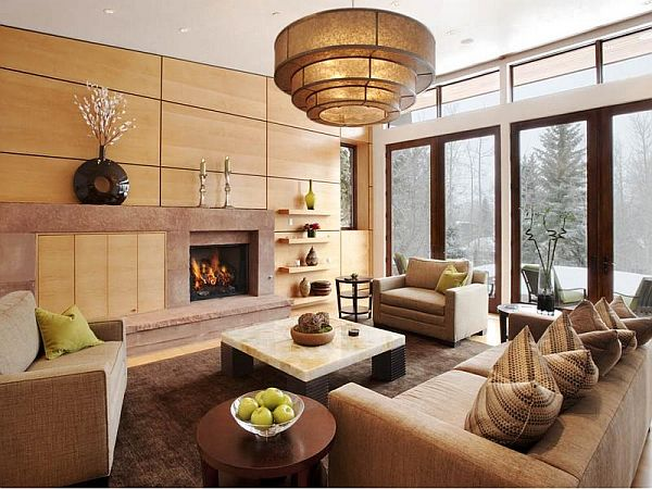 Contemporary mountain home in Aspen Aspen property living room