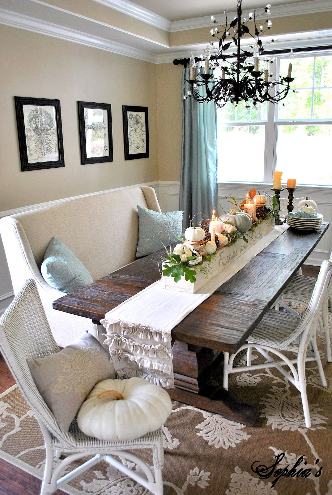 Fall Table Centerpiece Decor Home Decorating Trends