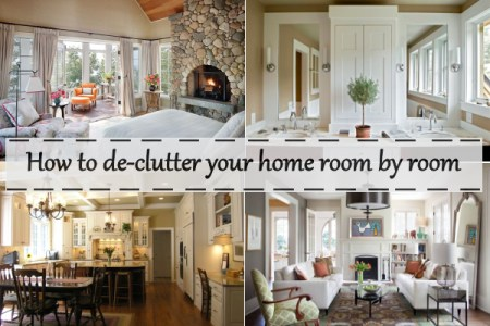 How to de clutter your home room by room