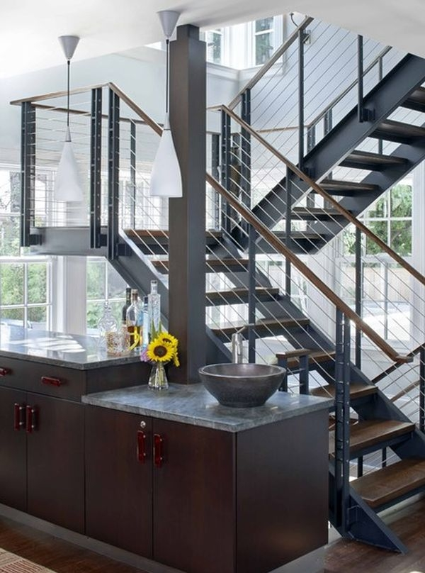 10 Steel Staircase Designs Sleek Durable And Strong | Staircase Designs With Steel And Glass | Affordable | Outdoor | Railing | Spiral | Staircase Design Modern House