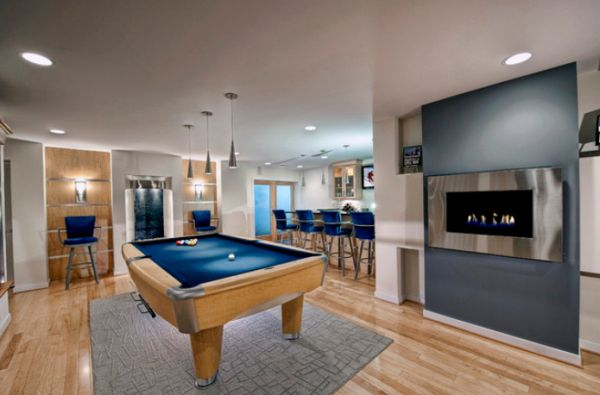 A few decor ideas and suggestions for your billiards room View in gallery Spacious billiards room