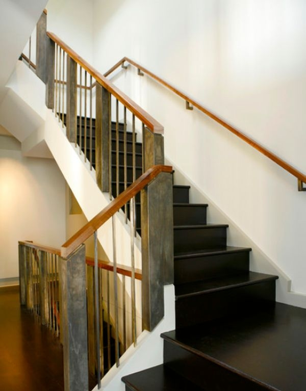 Modern Handrail Designs That Make The Staircase Stand Out   Modern Wood Stair Railing   Wrought Iron   Staircase Railing   Modern Style   Deck   Horizontal Bar