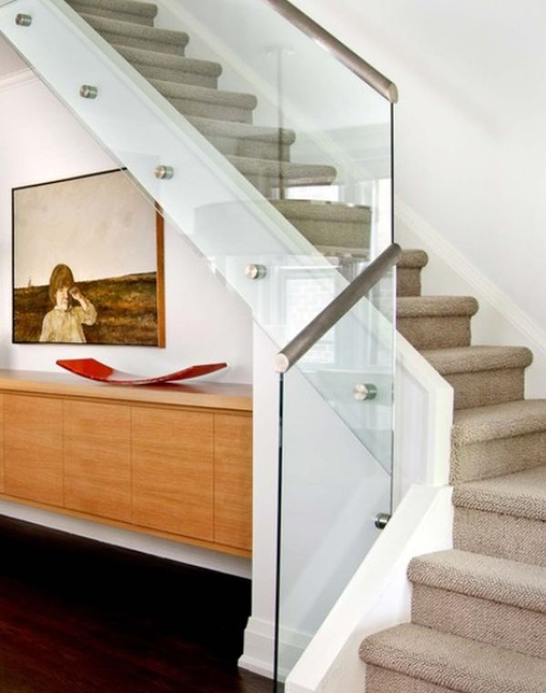Modern Handrail Designs That Make The Staircase Stand Out | Stairs Railing Designs In Steel With Glass | Single Wall | Interior | Eye Catching | Steel Main Gate | Contemporary
