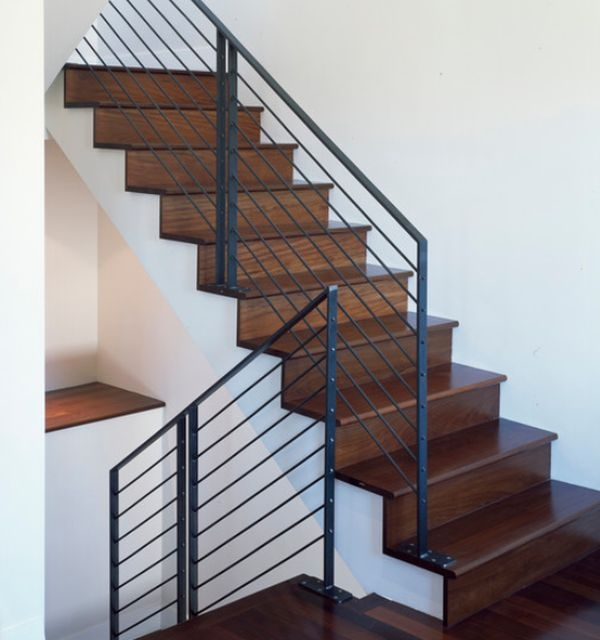 Modern Handrail Designs That Make The Staircase Stand Out | Tubular Stair Railings Design | Simple | Grill Work | Residential Industrial Stair | Welded | Stair Case Railing