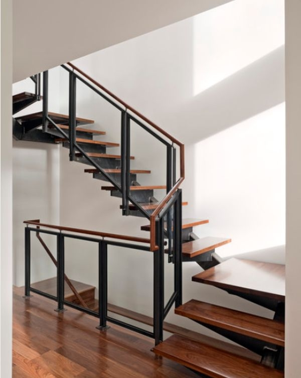 Modern Handrail Designs That Make The Staircase Stand Out | Steel And Wood Staircase | Glass | Custom | Handrail | Contemporary | Inside