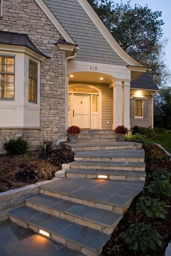 How To Design Exterior Stairs   Outdoor Steps Design For House   Metal   Farm House Wide Front Porch   Handrail   Outdoor Walkway   Fancy
