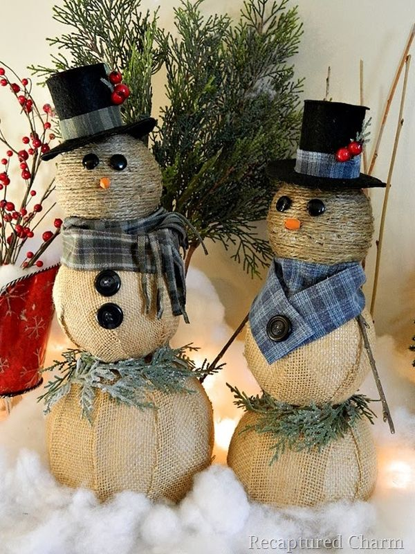 10 Simple Snowmen Ideas for your Holiday D    cor