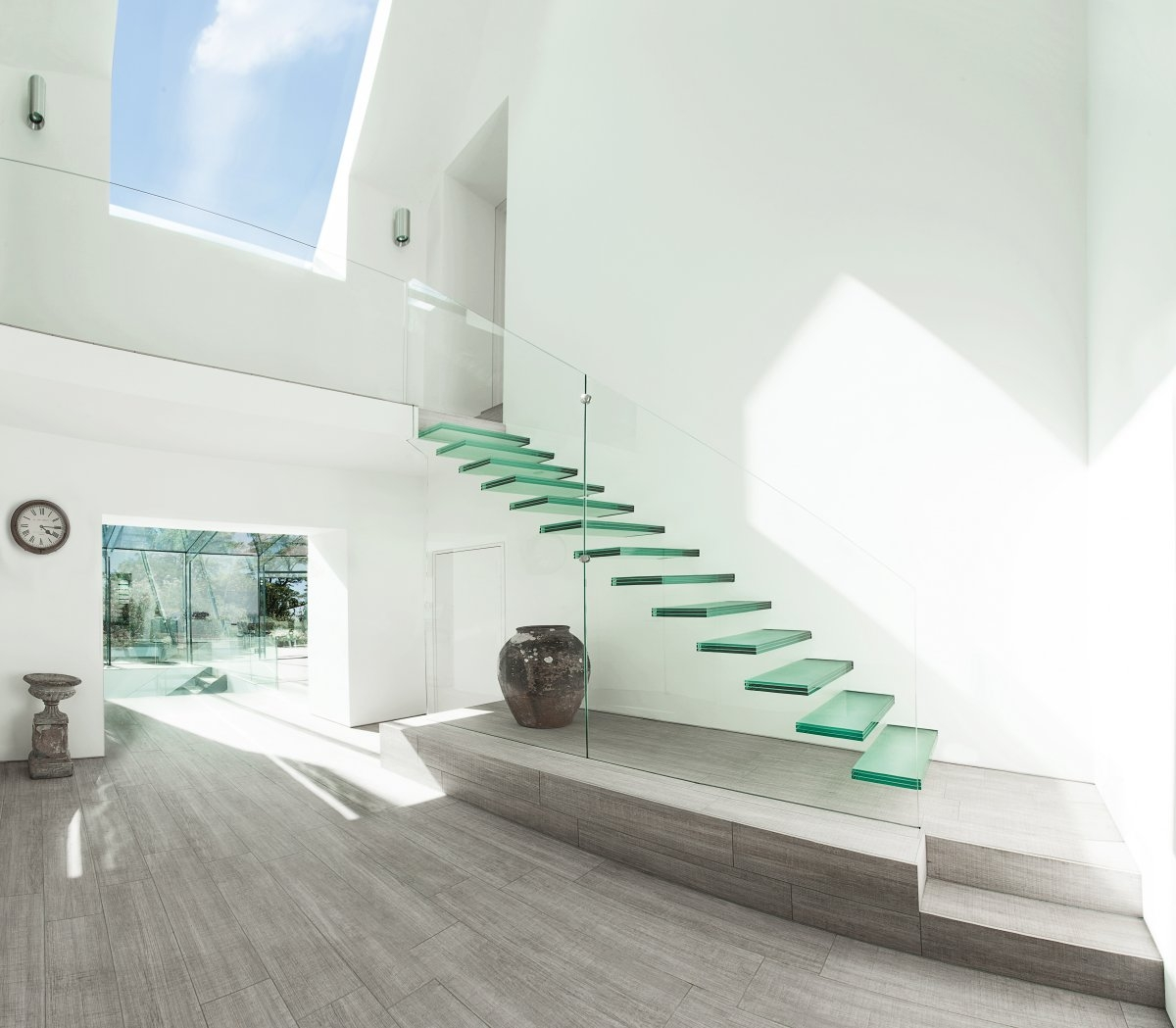 20 Glass Staircase Wall Designs With A Graceful Impact On The | Interior Design Staircase Wall | Luxurious Home | Unique | Beautiful | Fancy | Building Interior