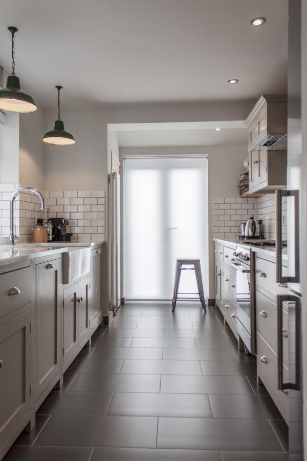 One Sided Kitchen Layout