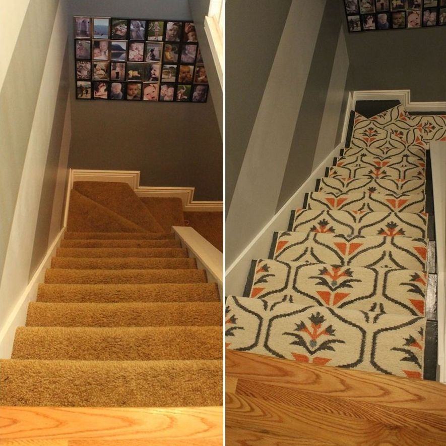 Update Your Staircase How To Remove And Install Carpet On | Removable Carpet For Stairs