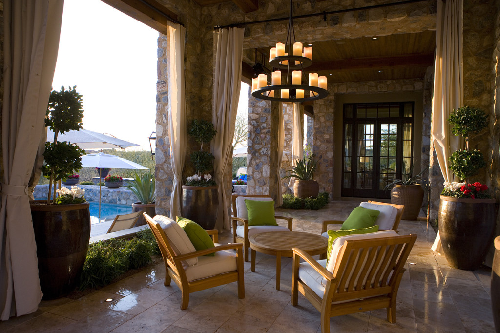 Rustic Covered Outdoor Living Spaces