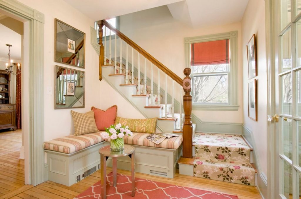 Entryway Corner Bench Staircase Nook Home Decorating