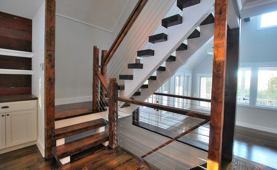 What You Need To Know Before Choosing Cable Railings   Hog Wire Stair Railing   Outdoor Stair   Deck Railing   Thin Picket Deck   Backyard   Indoor