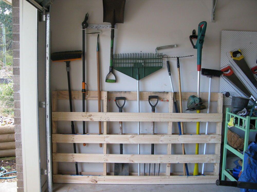 Rake Shovel Holders Garages