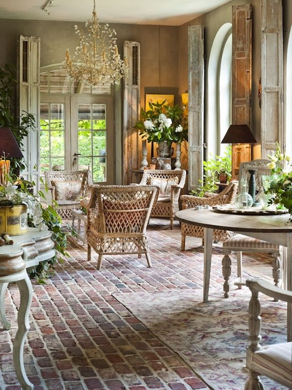 Charming Ideas French Country Decorating Ideas Brick Flooring for french country decor