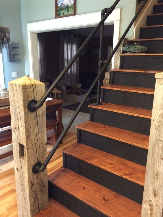 A Few Projects You Should Try If You Re Into Pipe Furniture | Gas Pipe Stair Railing