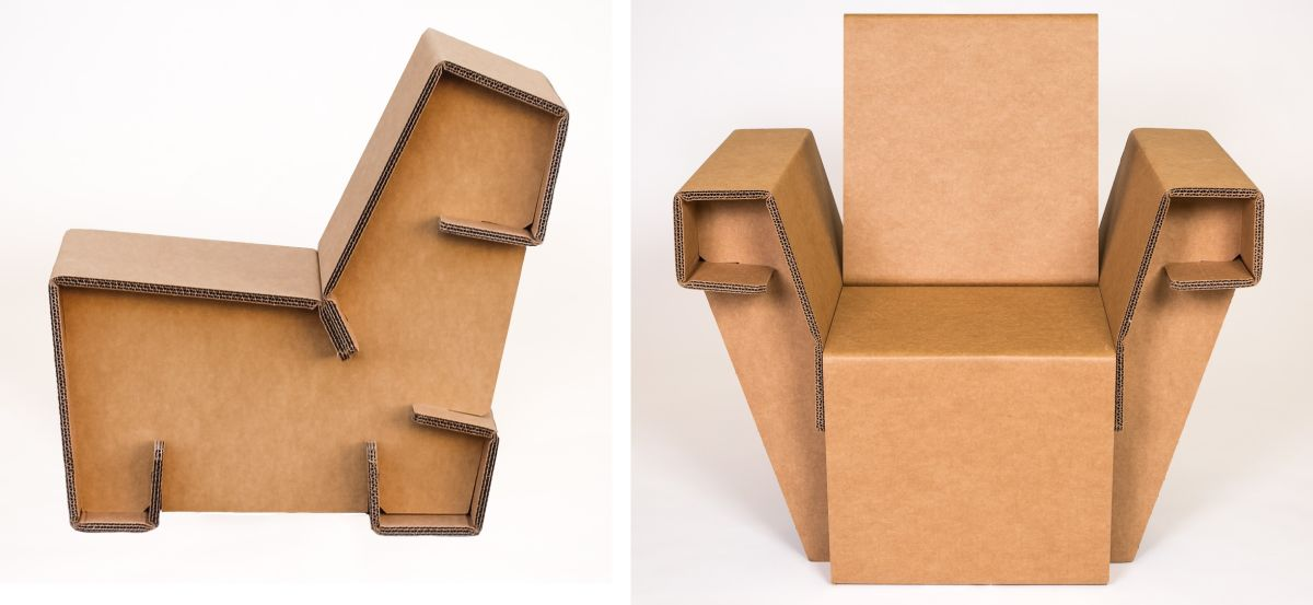 Cardboard Furniture   Surprisingly Strong And Unexpectedly Stylish View in gallery
